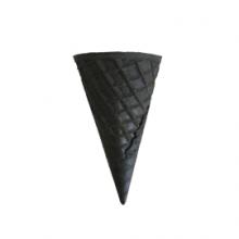 Вафельный рожок с ровным краем черный 110мм, 5шт